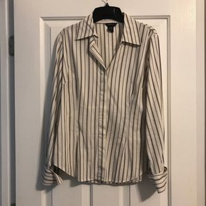 MODA International Button Down Dress Shirt, Size M